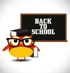 Owl with blackboard vector image