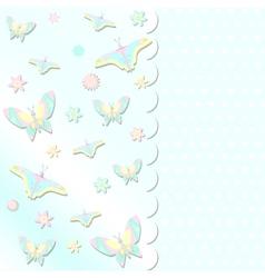 scrabbook card with butterflies vector image