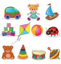 Set of babys toys vector image