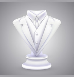 triangle jacket and tie statue vector image vector image