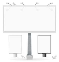Advertising media vector image
