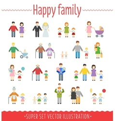 Family set infographics vector image vector image