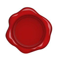 red wax seal with highlights vector image