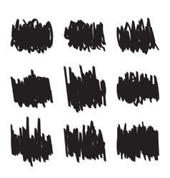 Set hand drawn figures felt-tip pen scrawl vector