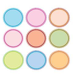 Set of Circle Frames for Design vector image
