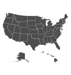 Set of US states vector image