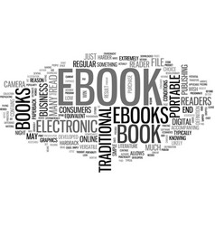 what is an ebook text word cloud concept vector image vector image