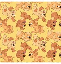 funny cartoon puppies vector image