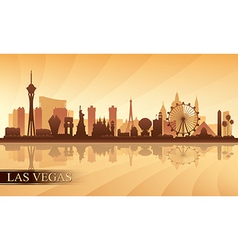 Las Vegas city skyline silhouette background vector image vector image