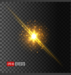 star light flash lens flare effect icon vector image
