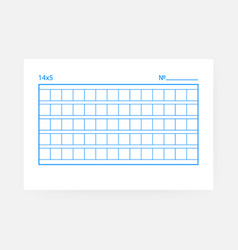 14x5 squared manuscript paper on white background vector