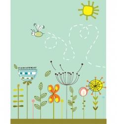 abstract garden vector image