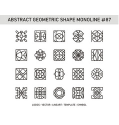 Abstract geometric shape monoline 87 vector