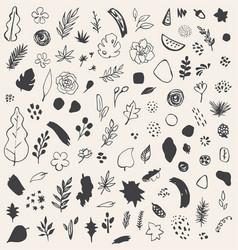 abstract seasonal doodles vector image
