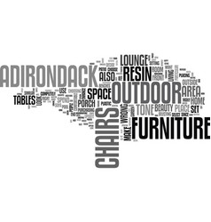 Adirondack resin lounge chairs the best way vector