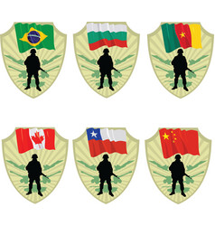 army in the world vector image