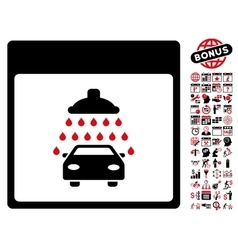 Automobile Shower Calendar Page Flat Icon vector