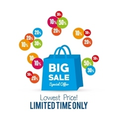 Bag gift big sale special offer vector