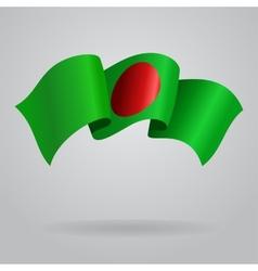 Bangladeshi waving Flag vector image