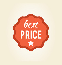 best price circular sticker on vector image