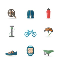 Bike Icons Flat vector