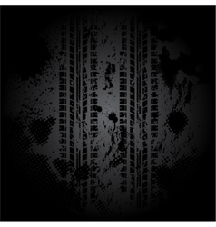 Black tire track background vector image
