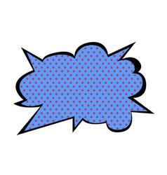 Bright blank speech bubble colorful vector