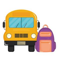 bus school vehicle transport icon vector image