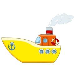 Cartoon ship vector