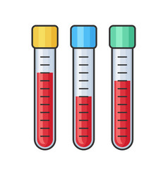Chemistry research laboratory test glass tube vector