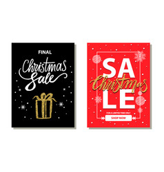 christmas sale limited time vector image