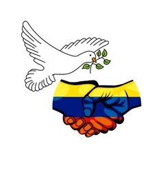 Colombian peace agreement symbol vector image vector image
