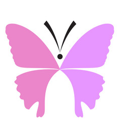 colored abstract beautiful butterfly icon vector image