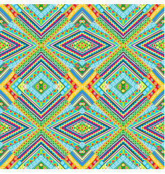 Colorful kaleidoscope pattern with doodle vector