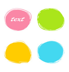 colorful roundish banners vector image
