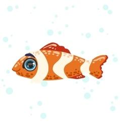 Coral fish drawing vector