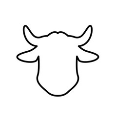 Cow faceless head vector