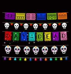 day dead dia de los muertos party decorations vector image