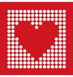 dot heart vector image