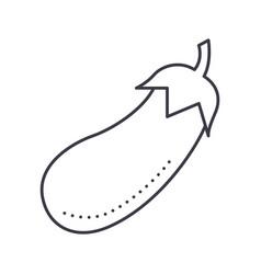 eco salad bowl line icon sig vector image