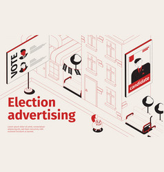 election advertising isometric background vector image