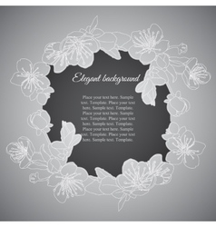 Elegant frame with branch of apricot flowers vector image