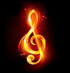 fiery musical key vector image