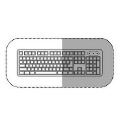 Figure computer keyboard icon vector