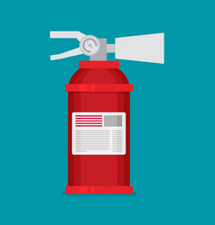 Flat fire extinguisher icon vector
