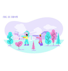 fog in town composition vector image