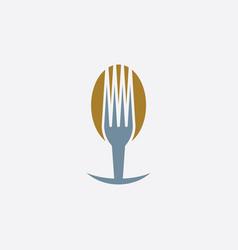 fork and spoon restaurant menu logo icon symbol vector image