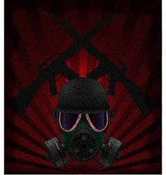 Gas mask concept 01 vector
