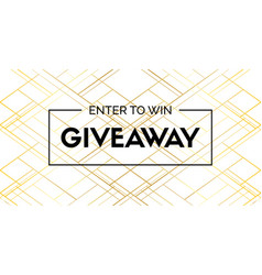 Giveaway luxury banner enter to win vector
