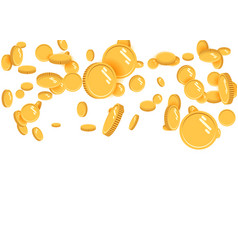 gold coins explosion flat gold coins vector image